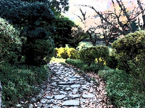 有栖川公園の小径-ストローク暗&ポスタリ.jpg